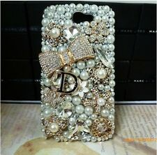 NEW 3D Bling Gold Bow Rose Crystal Diamond Case Cover OFSamsung Galaxy Note II 2