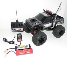 NIKKO R/C THOR 27MHz MONSTER TRUCK TOYOTA HILUX READY TO RUN  BLACK WHEELS