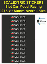 Scalextric Slot car stickers Model Race TAG Heuer Lego decal adhesive vinyl T