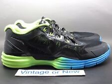 Men's Nike Lunar TR1 Black Blue Volt Trail Running 529169-074 sz 12