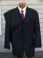 ARMANI Collezoni Italian 2 Pc Suit 42 R Black Mens Suit Surgeon Cuffs EUC