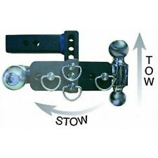 B&W HITCHES TS10047B Black Tow&Stow Tri-Ball Hitch Receivr 1 7/8,2 2 5/16 Adjust