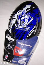 North Melbourne Kangaroos AFL Team Blacl Blue Bicycle Helmet Size M New
