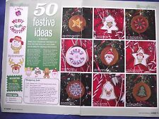 COLLECTION OF 50 FESTIVE MOTIFS FOR CHRISTMAS DECORATIONS CROSS STITCH CHART