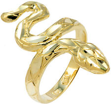 Gold Diamond-Cut Scale Shape Snake Ring