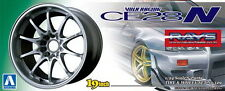 "Aoshima 1/24 Volk Racing CE28N (Titanium Silver) Tyres & Wheels No.129 19"" Wheel"