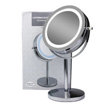 Desktop Beauty Makeup Mirror W/ light Sided 5XMagnifying Cosmetic lighted Mirror