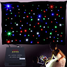 3 x 2m LED Star Cloth Matrix Backdrop DMX 8Ch For DJ Culb Stage Party Wedding