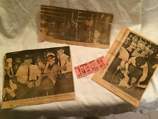 Original Beatles Concert Ticket Stubs with Next Day Newspaper Photos