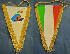 ITALY ITALIA BASKETBALL FEDERATION OFFICIAL BIG PENNANT 32x21cm OLD