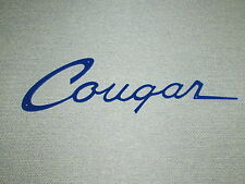 Mercury COUGAR Script badge emblem Wall Sign