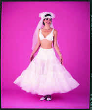 4 Tier Tulle Netting Plus Size Bridal Slip Skirt Costume X-Large (107DSXL)
