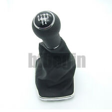 5 Speed Gear Shift Knob Gaitor Boot Leather 23mm For VW Golf MK 4 Bora Cabriolet