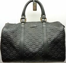 Gucci Guccissima Leather Joy Boston Satchel Bag Black 265697