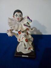 Antica SCULTURA Statua FIRMATA G. ARMANI Florence  - Pagliaccio Clown Pierot