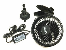 12 VOLT VARIABLE SPEED HIGH POWER FAN- POWER FULL. PORTABLE. WHISPER QUIET