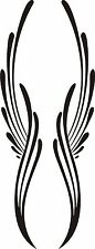 Custom Graphic Center Scroll Pinstriping Decal #28  Pair (2 Decals)  7.25 X 3