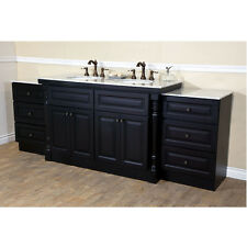 "93"" BELLATERRA HOME 605522C TRADITIONAL MAHOGANY DOUBLE SINK BATHROOM CABINET"