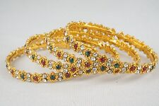 Indian Bollywood Traditional Gold Plated Bangles Bracelet Set Bridal Jewelry