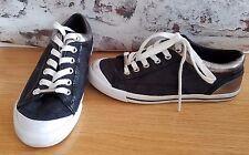 COACH Francesca Black/Pewter Signature Sneakers Tennis Shoes  Womens sz 6