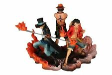 One Piece DXF Anime Ace Sabo Luffy Action Figure Set 15cm Tall
