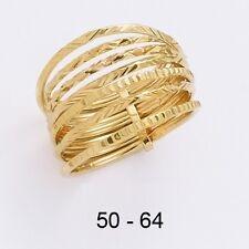 Dolly-Bijoux Bague T50 Semainier Sculté Diamantée Plaqué Or 18K 5 Microns
