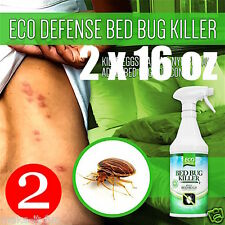 How to Get Rid of Bed Bugs Fast Eradicating Bites Natural Killer Spray -16oz x 2