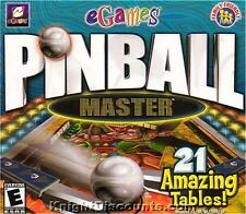 PINBALL MASTER eGames Arcade PC Game Win 95-XP NEW Box