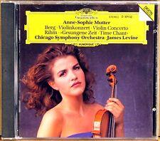 DGG DIGITAL CD Berg Rihm MUTTER Concerto/Time Chant LEVINE NO IFPI D-101442
