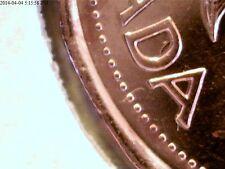 """ VERY  RARE  ERROR  ""    1994  BU  CANADIAN  PENNY  DOG TAIL  IN  "" D ""    #3"