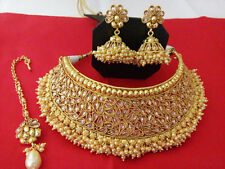 South Indian Bollywood Style Necklace Set Gold Plated Fashion Wedding Jewelry
