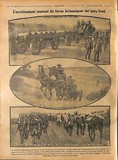 Sammies British Army Artillery Mulet Canada Munition Bataille la Somme WWI 1916