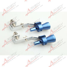 2PCS Universal Turbo Sound Exhaust Whistle/Fake Blow off BOV Simulator Blue s B
