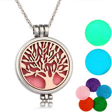 Rose Gold Tree of Life Aromatherapy Essential Oil Diffuser Necklace Pendant New