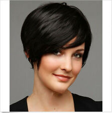 New Sexy Women/Men Boys Short Black Straight Natural Hair Wigs Free Ship+Wig Cap