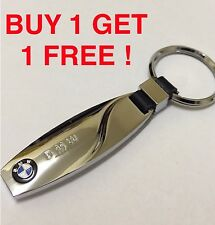 2x 2016 BMW CHROME M SPORT KEY RING KEYRING FOB CHAIN + FREE DELIVERY +1st Class