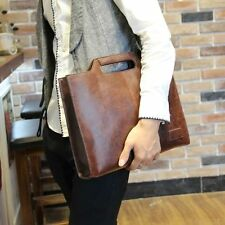 Casual Briefcase Messenger Bags Men's PU Leather Vintage Shoulder Bags Business