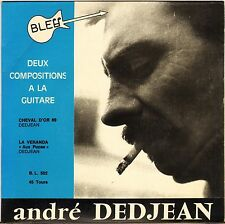 "ANDRE DEDJEAN ""CHEVAL D'OR 69"" MANOUCHE JAZZ SP 1969 BLEU 502"