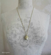 PILGRIM Necklace Small Opening BABUSHKA Russian Doll Gold Cream BNWT Last Ones!