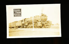 Grand Trunk Western GTW 2-8-2 Steam Locomotive #3711 - B&W Railroad Photo