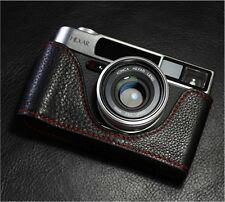 Leather Konica Hexar Black with Red Stitching Half Case - BRAND NEW