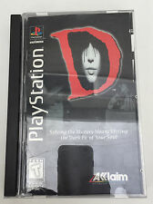 SONY PLAYSTATION 1 PS1 LONG BOX GAME COMPLETE  - D HORROR - 1996