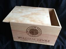 William Fevre Chablis 2008 6 bottle Wood Wine Crate Box France Clover. With Lid