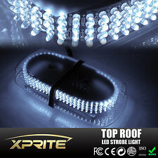 240 LED 12V Emergency Hazard Roof Top Strobe Light Bar w/Magnetic base White