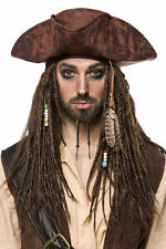 Señora caballero peluca pirata bruja Jack Sparrow carnaval carnaval esas trenzas atrás nuevo