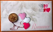 AUSTRALIA 2014 ROMANCE PNC STAMP & $1 COIN COVERS