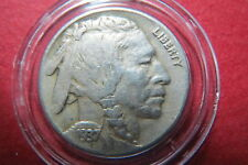 "U.S.  ""SCARCE"" 1937-D  BUFFALO/INDIAN HEAD NICKEL, Extra Fine in Dispaly Capsule"