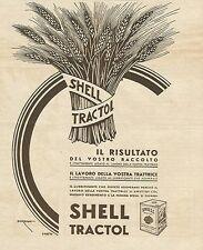 W3011 Lubrificante Shell Tractol - Illustratore Sorgiani - Pubblicità 1935 - Adv