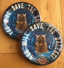 2 x Packs / 24pcs DOCTOR WHO DALEK TARDIS Paper Plates Party Kit Birthday Dr Who