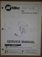 MILLER SERVICE MANUAL MMP  1993 FORM NO. SM-814 EFFECTIVE WITH NO. KC199289